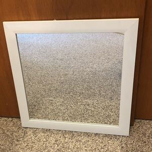 White Square Mirror